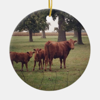 How Now Brown Cow Christmas Ornaments