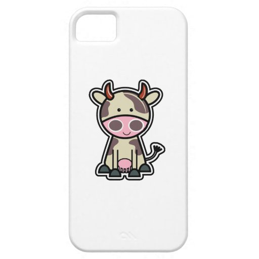 How Now Brown Cow Sticker iPhone 5 Covers