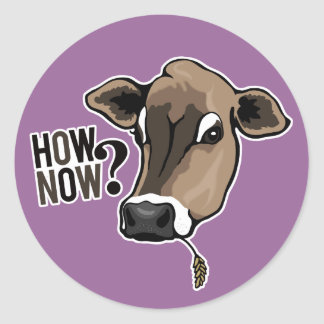 How Now Brown Cow? stickers