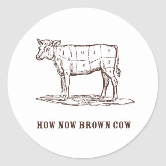 How Now Brown Cow Stickers