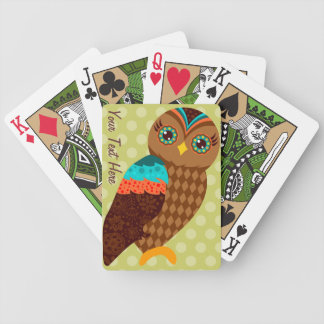 How Now Brown Owl? Bicycle Poker Cards