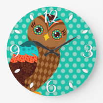 How Now Brown Owl Wall Clock