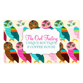 How Now Little Owl? Double-Sided Standard Business Cards (Pack Of 100)