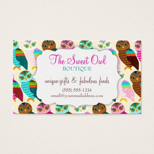 How Now Little Owl? Coupon Business Card
