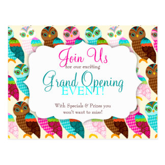 How Now Little Owl? Grand Opening Postcard