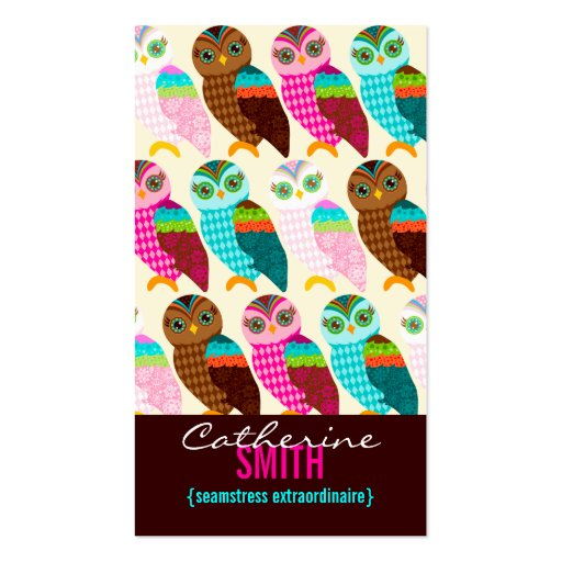 How Now Little Owl? Vertical Business Cards