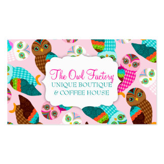 How Now Little Owls? Business Card Templates