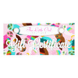 How Now Little Owls? Custom Gift Certificate Rack Card Design