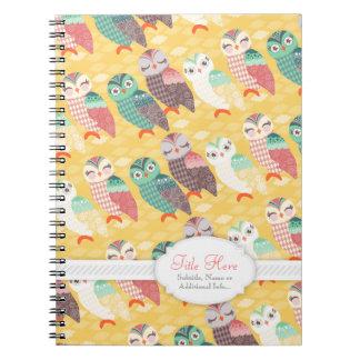 How Now Little Owls? Custom Text Notebook