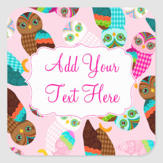 How Now Little Owls? Square Sticker