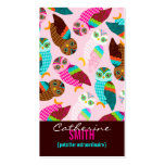 How Now Little Owls? Vertical Double-Sided Standard Business Cards (Pack Of 100)