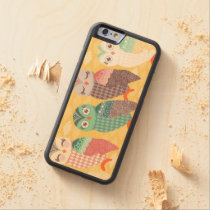 How Now Pastel Owls - Wood Phone Case