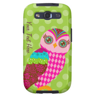 How Now Pink Owl Galaxy S3 Covers