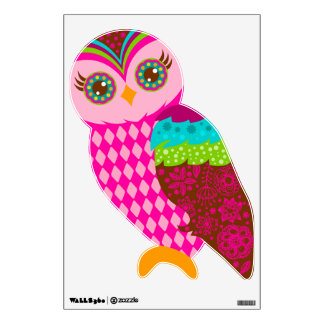 How Now Pink Owl Wall Sticker