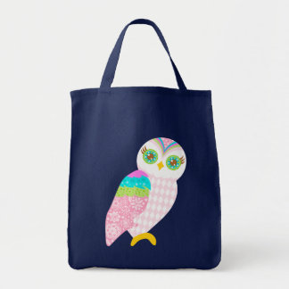 How Now White Owl Tote Bag