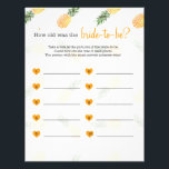 "How old was the bride to be shower game pineapple letterhead<br><div class=""desc"">How old was the bride to be shower game pineapple</div>"