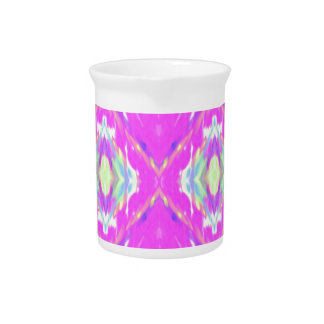 How Pink Girly Pattern Beverage Pitcher