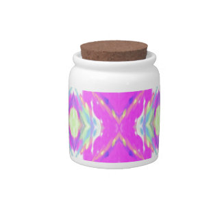 How Pink Girly Pattern Candy Jar