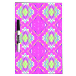 How Pink Girly Pattern Dry-Erase Board