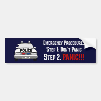 How Police Officers Respond to Your Emergency Bumper Sticker