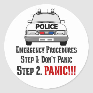 How Police Officers Respond to Your Emergency Stickers