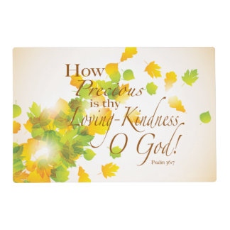 How Precious is Thy Loving Kindness Laminated Placemat