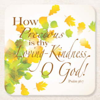 How Precious is Thy Loving Kindness Square Paper Coaster