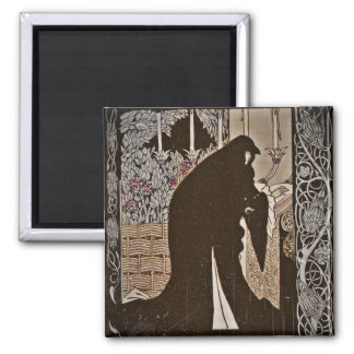 How Queen Guinevere Made her a Nun 2 Inch Square Magnet