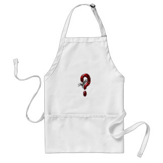 How Question Mark Lizard style Adult Apron