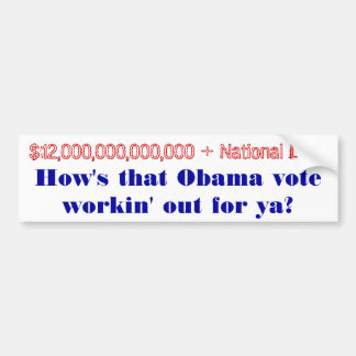 How s that Obama Vote workin out for ya Bumper Stickers