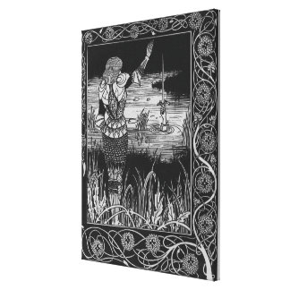 How Sir Bedivere Cast the Sword Excalibur Gallery Wrap Canvas