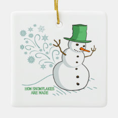 How Snowflakes Are Made Ceramic Ornament at Zazzle