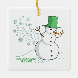 How Snowflakes are Made Ceramic Ornament