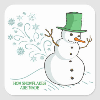 How Snowflakes are Made Square Sticker