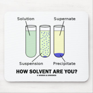 How Solvent Are You? (Chemistry Humor) Mouse Pads
