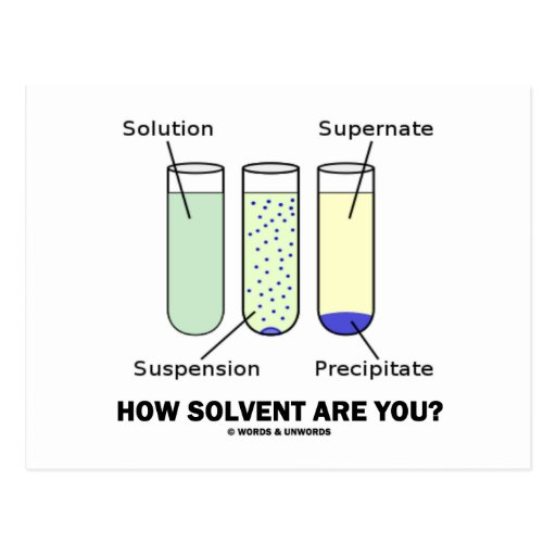 How Solvent Are You? (Chemistry Humor) Post Cards