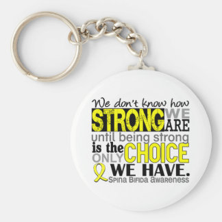 How Strong We Are Spina Bifida Keychain