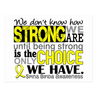 How Strong We Are Spina Bifida Postcard