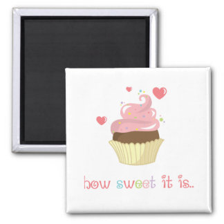 How Sweet it Is Cupcake Magnet