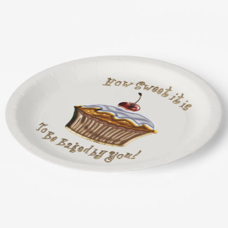 How Sweet It Is HOLIDAY TREAT DESSERT Paper Plate