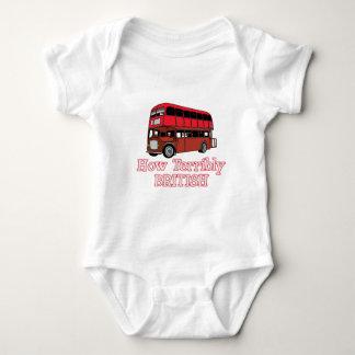 How Terribly British Bus Baby Bodysuit