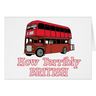 How Terribly British Bus Cards