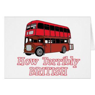 How Terribly British Bus Card