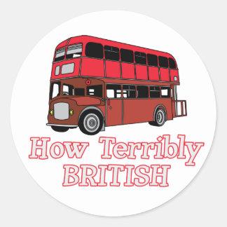 How Terribly British Bus Classic Round Sticker