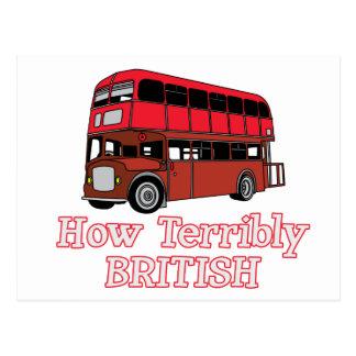 How Terribly British Bus Postcard