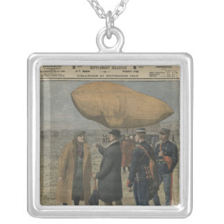 How the air conquerors are welcomed in France Silver Plated Necklace
