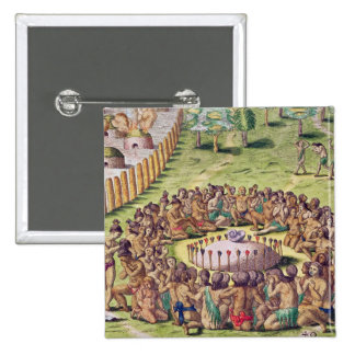 How the Chief is Buried, from 'Brevis 2 Inch Square Button