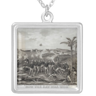 How the Day was Won Charge of the Tenth Silver Plated Necklace