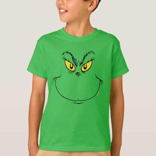 How the Grinch Stole Christmas Face T_Shirt