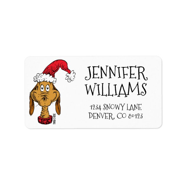 Custom Personalized How The Grinch Stole Christmas Return Address Mailing Labels